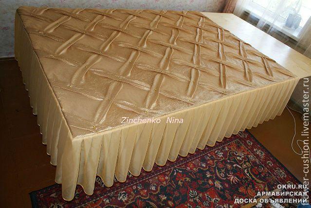 Покрывало с оборкой мастер класс - Покрывало на кровать для спальни - 70 красивых идей