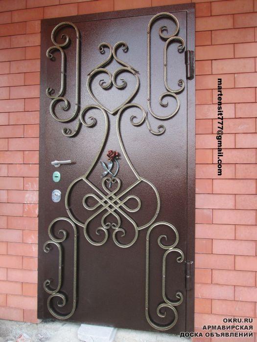 стальные двери декор внутренней стороны