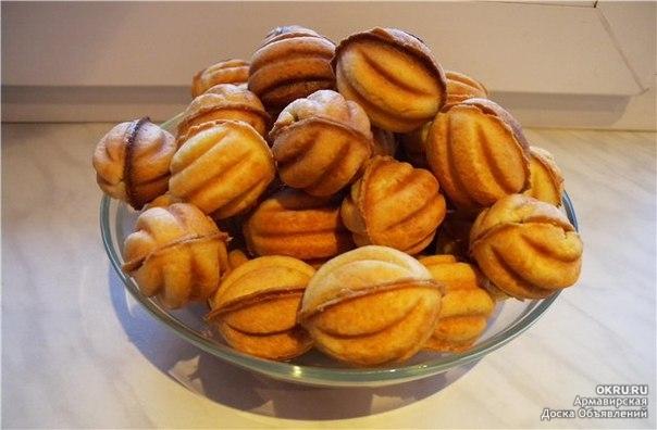 Рецепт хрустящих орешков со сгущенкой в домашних условиях