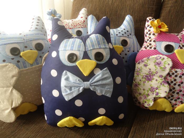 Игрушки подушки своими руками совы