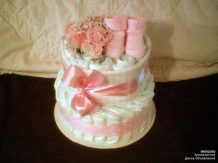 Фото торта из памперсов