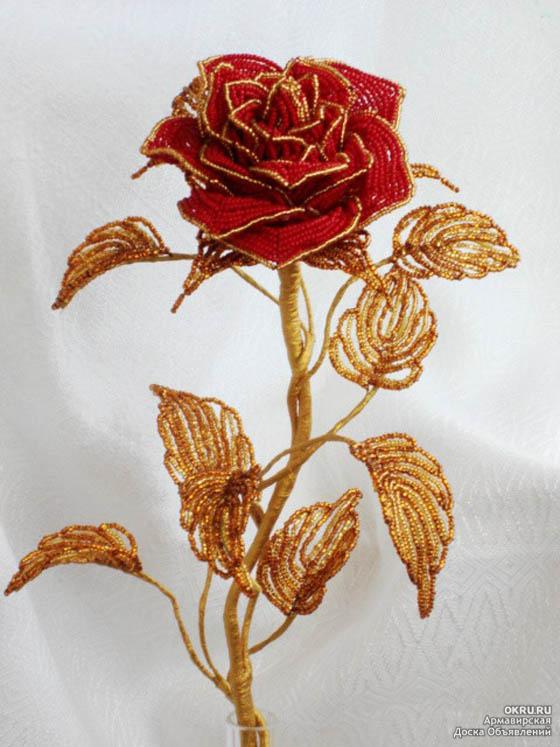 Сделай своими руками розы из бисера