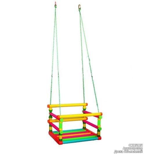 Веревочные качели для детей