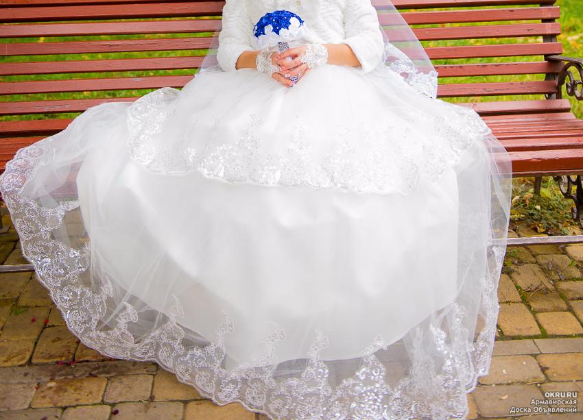 Пышное платье без колец