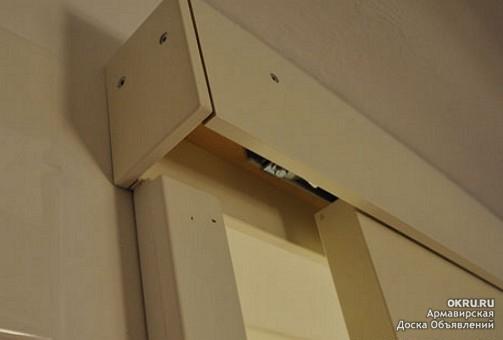 Межкомнатные купейные двери установка