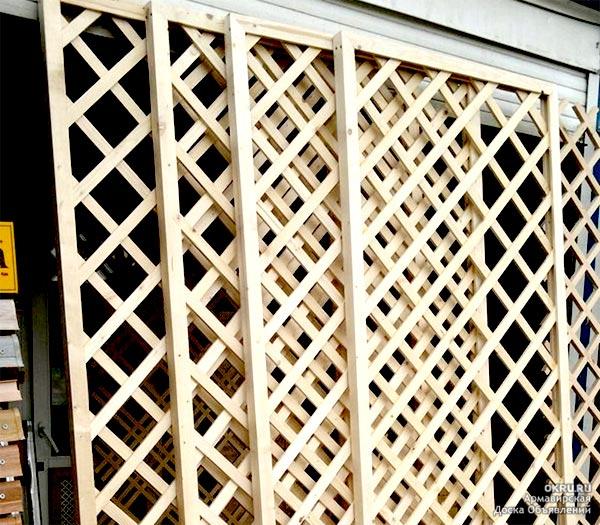 Изготовление деревянной решетки для беседки