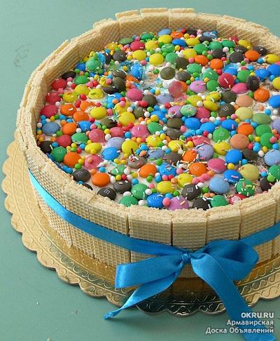 Как украсить торт в домашних условиях на день рождения ребенку 1 годик