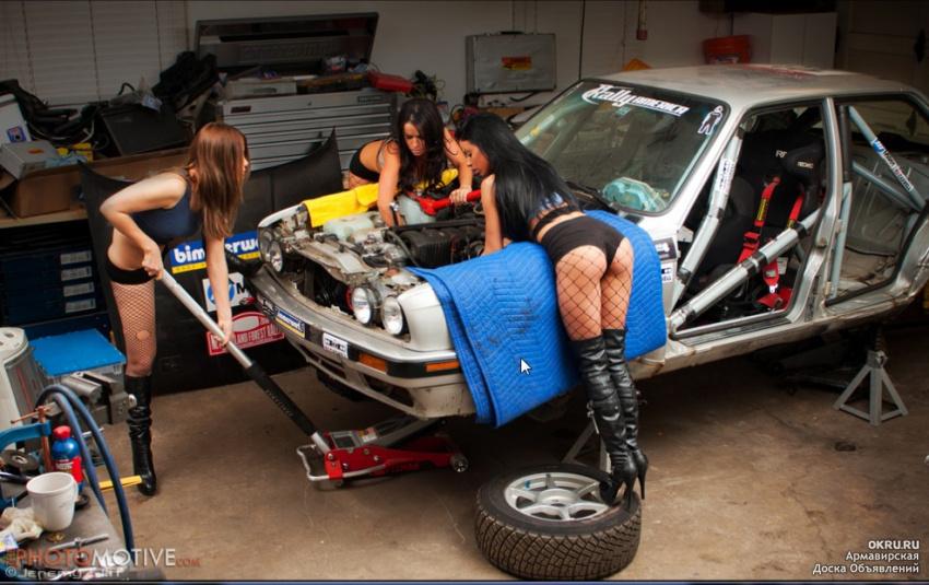 Ремонт машины в гараже своими руками 90