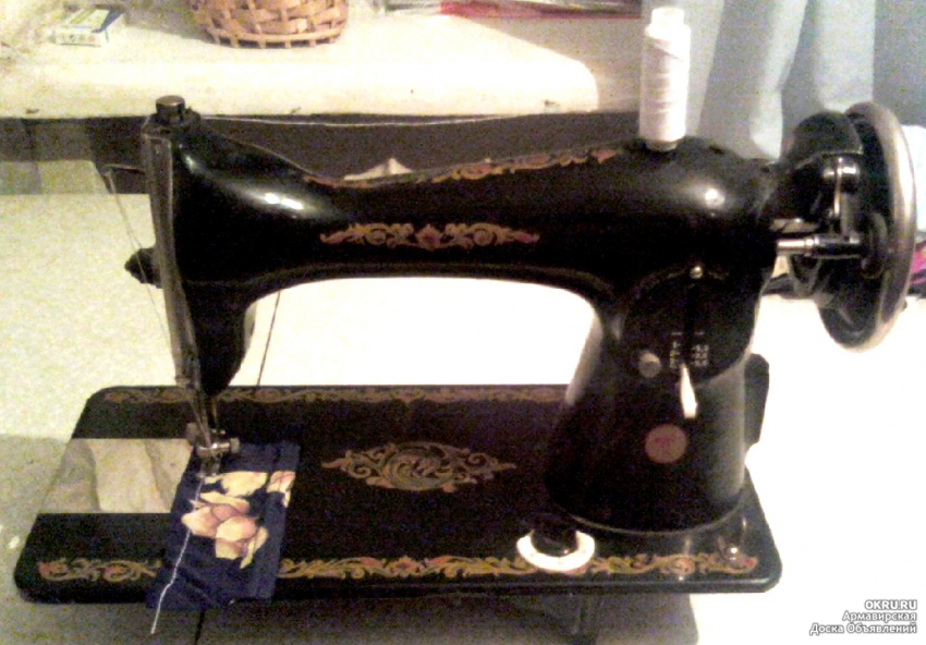 Вышивка на подольской швейной машине 18